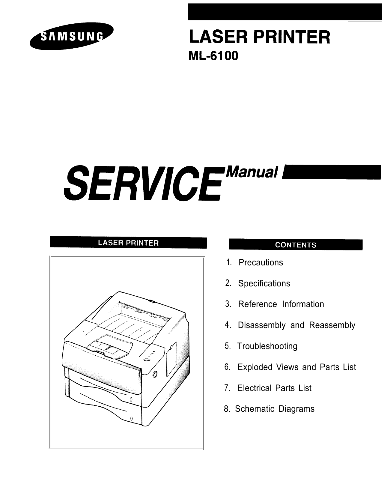 Samsung Laser-Printer ML-6100 Parts and Service Manual-1
